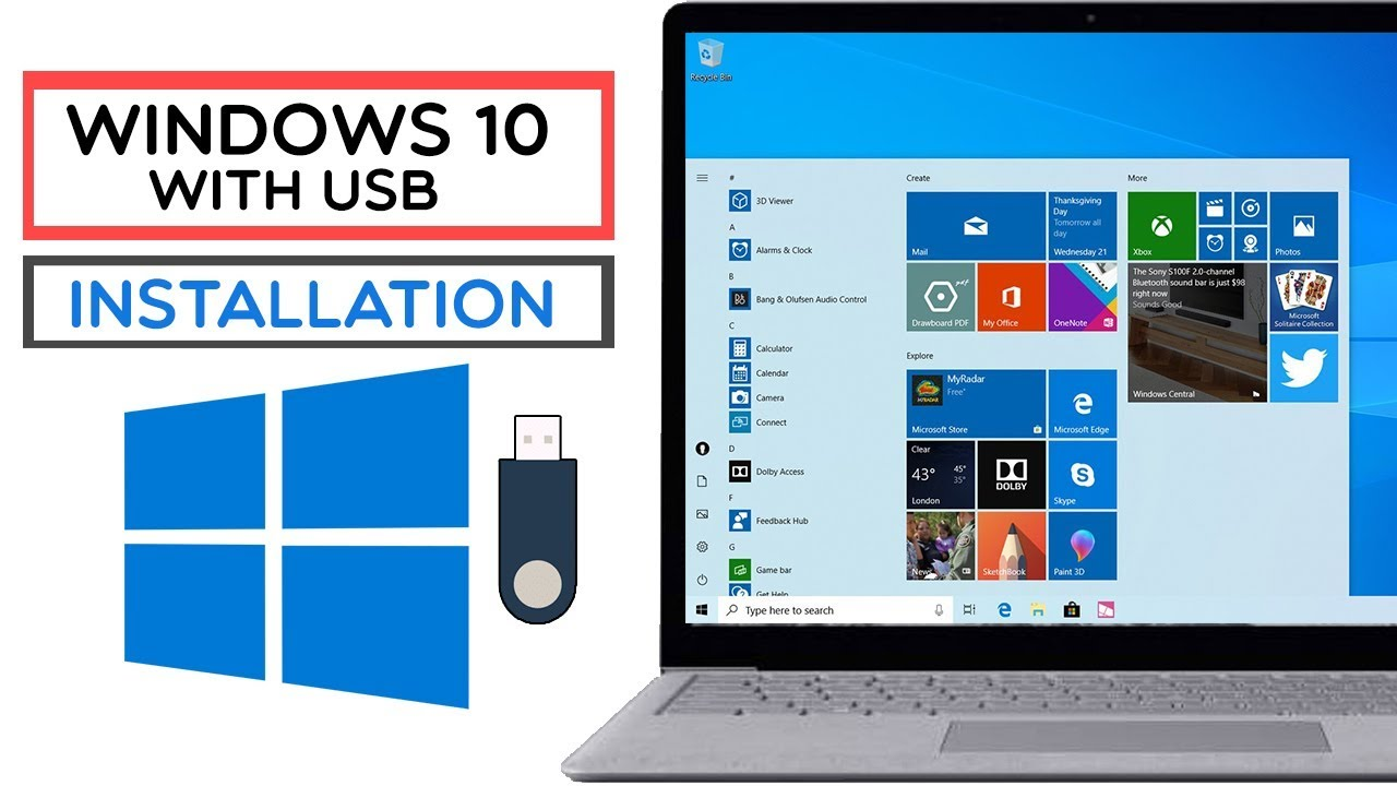 How To Install Windows 10 On PC With USB