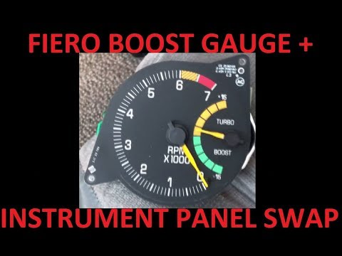 Fiero Turbo Sunbird Tachometer Boost Gauge Install + Dickman Instrument Panel Dashboard Lights
