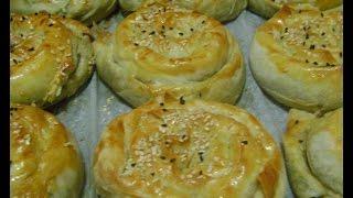 ıspanaklı kıymalı börek tarifi / kol böreği
