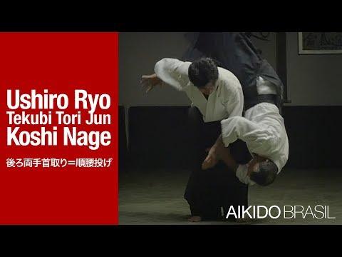 AIKIDO Technique | Ushiro Ryo Tekubi Tori Jun Koshi Nage (後ろ両手首取り=順腰投げ)