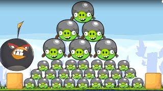 Huge Angry Birds!!! GAMEPLAY WALKTHROUGH BIRD VS 100 BAD PIGS!! Ang...