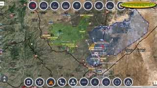 Обзор карты боевых действий в  Сирии за 19.10. 2015 год