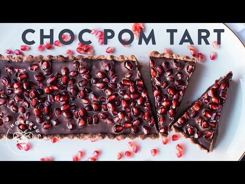 CHOCOLATE POMEGRANATE TART - Honeysuckle