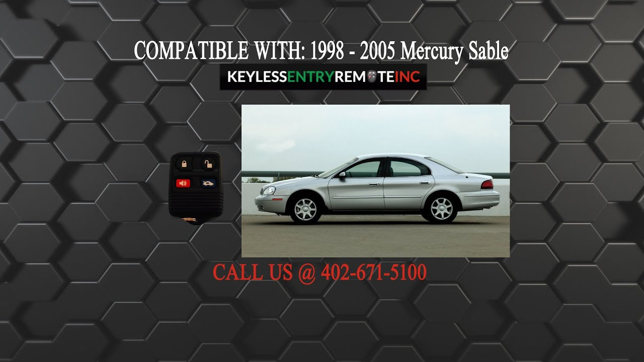 How To Replace Mercury Sable Key Fob Battery 1998 1999 2000 2001 2002 2003 2004 2005