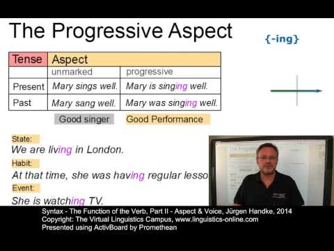 SYN123 - The Function of the Verb - Aspect and Voice