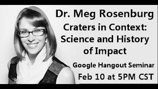 Seminar w/ Dr Meg Rosenburg