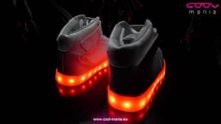 df84117b1ee8 LED topánky - Sneakers biele (www.cool-mania.eu)