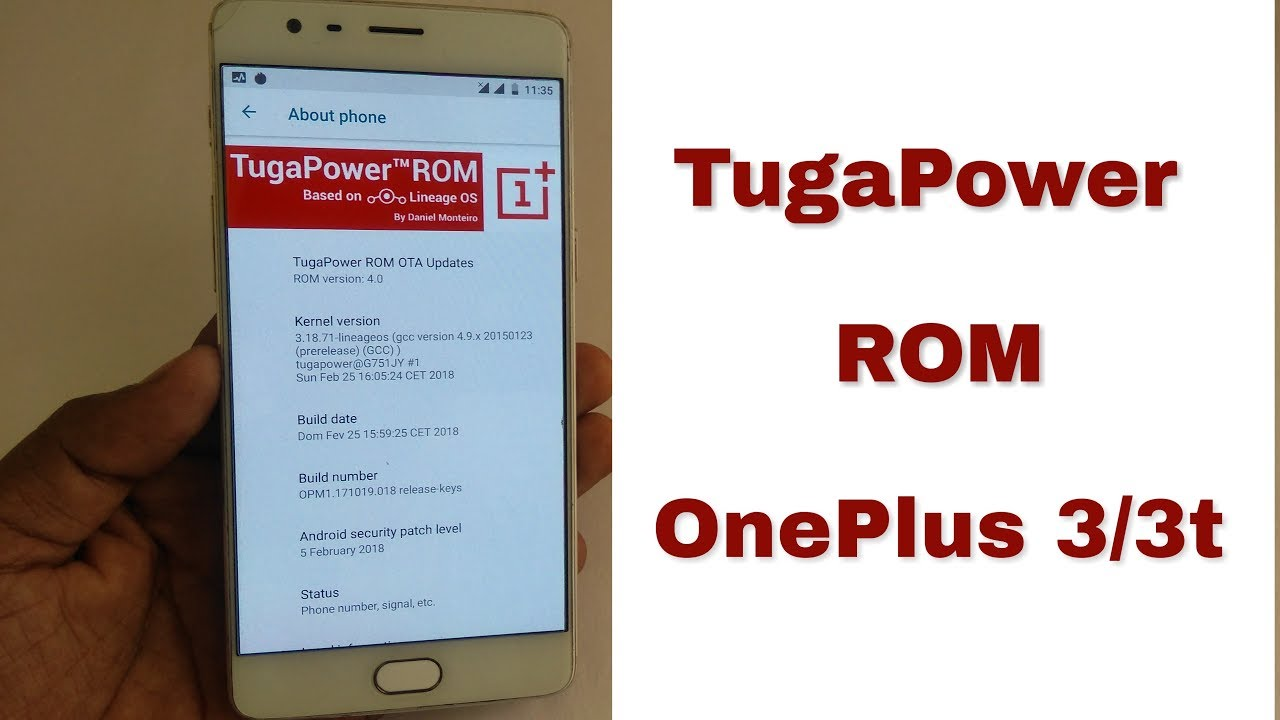 TugaPower custom ROM for OnePlus 3/3t   installation   Review