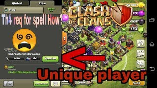 Th4 req for spell How? The most unique player in coc||Clash of Clans||in hindi