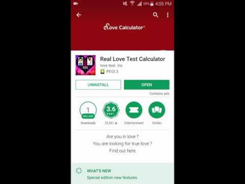 Real Love Test Calculator for Android - Love Calculator