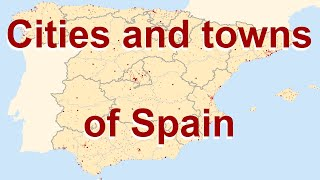 The spanish cities and towns on map: topography country of spain