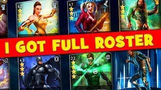 Injustice 2 Mobile. I GOT EVERY SINGLE CHARACTER! Unlocking Justice League Aquaman!