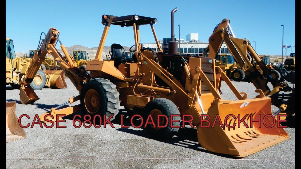 Case 680K Construction King Loader Backhoe