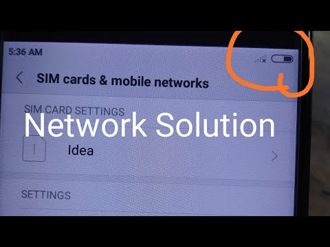 Mi Redmi 5a Network problem   How to solve no service   android phone network fault