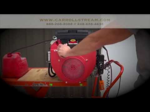 Carroll Stream Motor Company 20 HP V-Twin Small Gas Engine with Electric Start