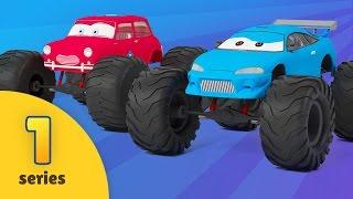 Monster Truck Adventures | NEW EPISODE | Car Wash | Monster Truck Stunts Cartoon For Children