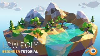 Low Poly Island  | Beginner |  Blender 2.8 Tutorial