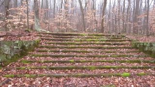 French Creek state park: A grand staircase in the woods