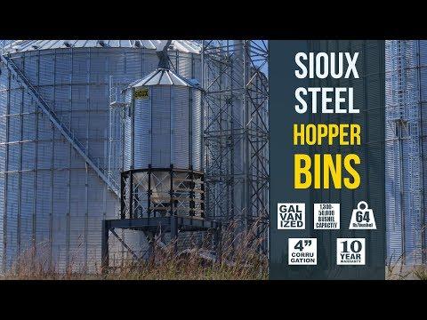 Sioux Steel Hopper Bins