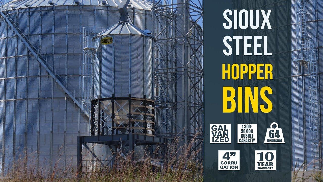 Standard Duty Hopper Bin   Sioux Steel Company