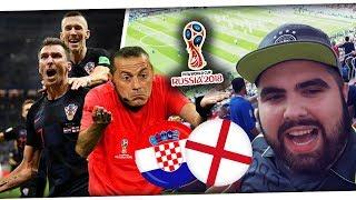 KROATIEN schafft das WUNDER! STADION RASTET aus! Live Reaction Kroatien - England 2:1 WM 2018 PMTV