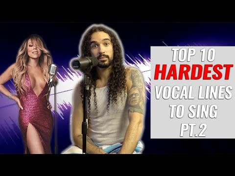 Top 10 HARDEST Vocal Lines To Sing (Part 2)