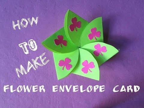 How To Make A Flower Envelope Card Scrapbooking Ideas