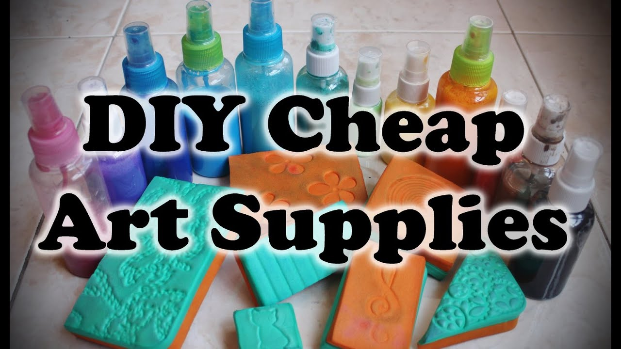 Diy cheap art supplies youtube for Craft supplies online cheap