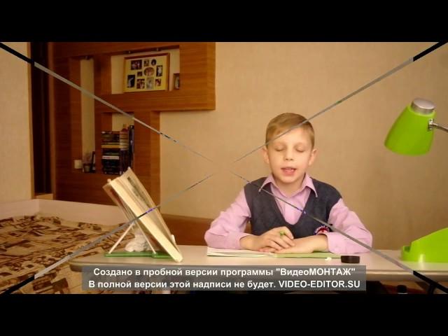Изображение предпросмотра прочтения – АртемМоскаленко читает произведение «Чистописание» С.В.Михалкова