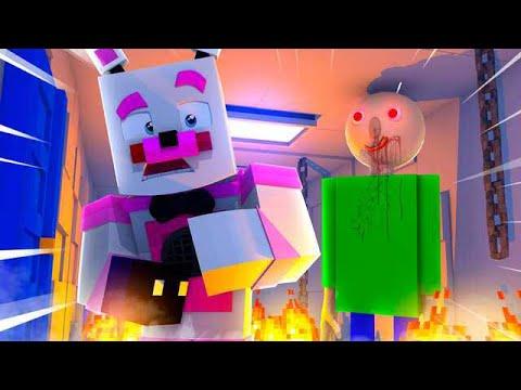 Baldi Attacks Funtime Freddy's NEW Location! Minecraft FNAF Roleplay