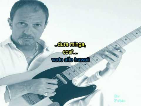 Sergio Caputo - Vado alle Hawaii - Karaoke