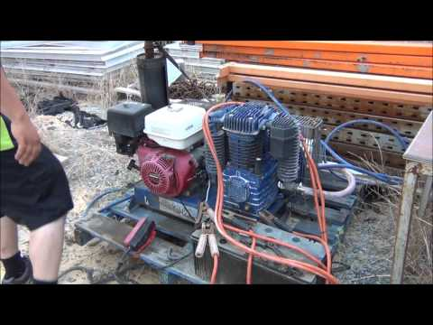 Pilot 150PSI 2 Stage compressor start + run with electric start!