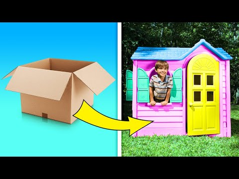 19 AMAZING CARDBOARD DIYs FOR THE WHOLE FAMILY