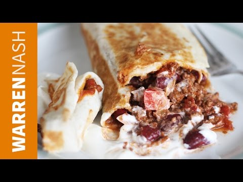 Ground Beef & Bean Burrito Recipe