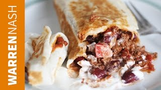 Burrito Recipe - With Ground Beef & Bean - Recipes by Warren Nash