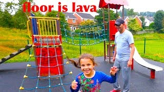 Outdoor Playground for Kids Fun and The Floor is Lava, Kids Play, Outdoor Playground for Children