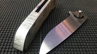 How To Make A Folding Knife #7 Tapping Titanium and Fitting the Back Spacer