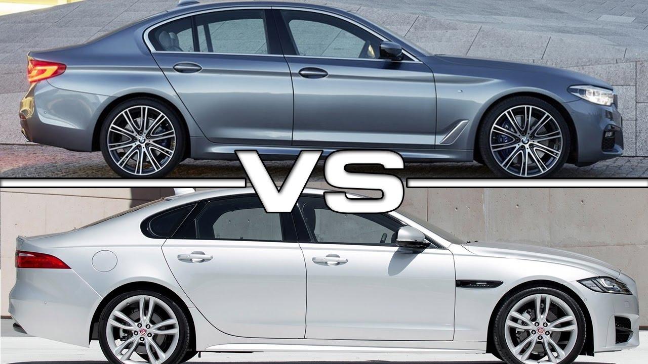 2017 bmw 5 series vs 2016 jaguar xf - youtube