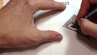 How To Draw Celtic Patterns 59 - A Simple Triskele Knot In An Irregular Shape - 5of5