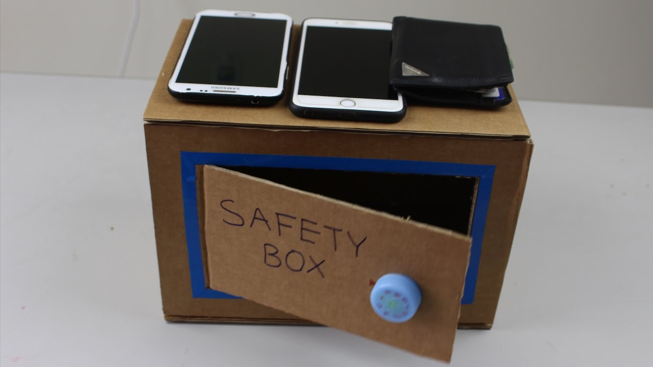 diy how to make a money safety box at home youtube