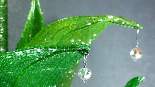Амазонская лилия из бисера. Урок 15 - Посадка / Beaded amazon lily. Lesson 15 - Planting