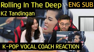 k pop vocal coach reacts to rolling in the deep kz tandingan
