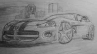 Dodge Viper SRT8 Drawing