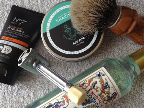 First Shave Of 2017 - My Thoughts On West Coast Shaving Bay Rum Soap.