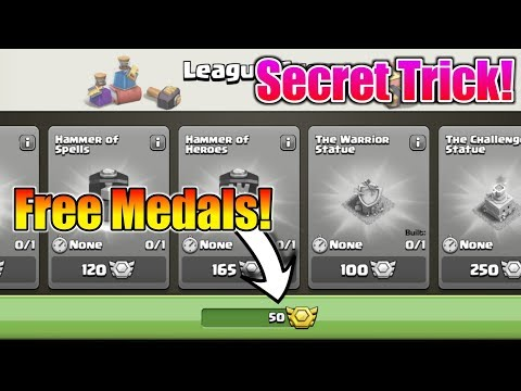How To Get Free 50 Medals Before Clan War League End | Secret Trick You Don't Know