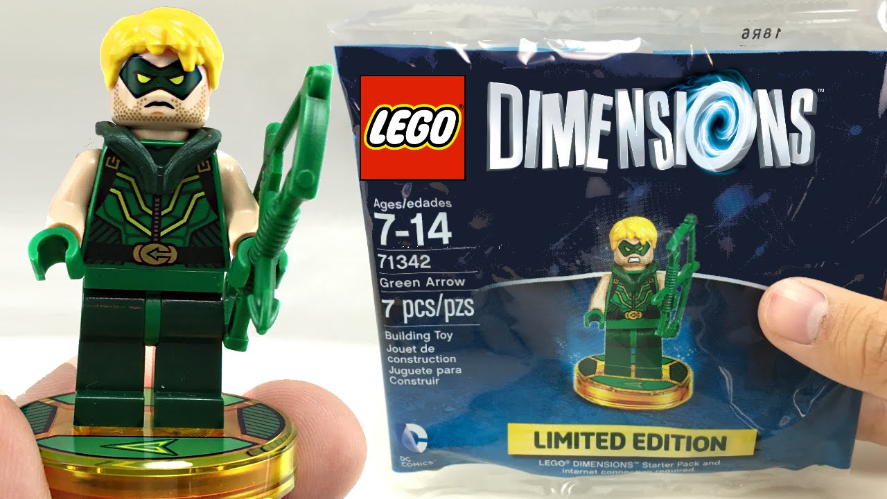 rare lego dimensions green arrow set review youtube