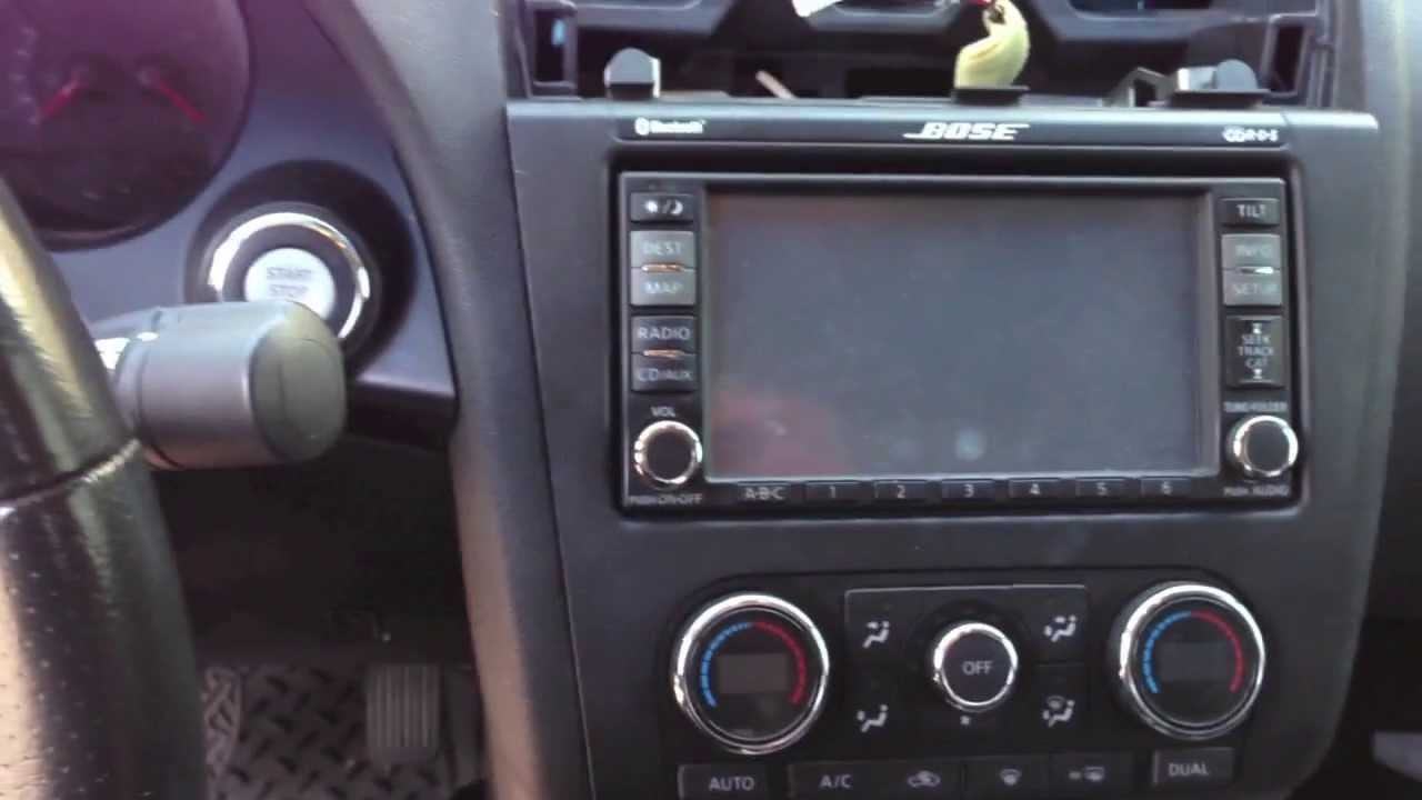 how to nissan altima dash stereo radio removal youtube