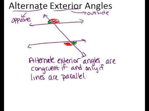 Alternate exterior angles video geometry ck 12 - Define exterior angle of a polygon ...