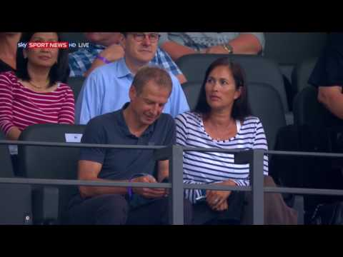Jürgen Klinsmann at Hertha v Liverpool friendly 2017/18