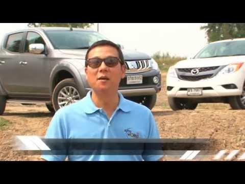 Test Mitsubishi Triton vs Nissan Navara vs Mazda BT-50 by AUTO BILD Thailand.